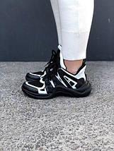 Кроссовки Louis Vuitton Black White, фото 2