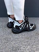 Кроссовки Louis Vuitton Black White, фото 3
