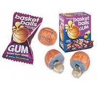 Жевательные конфеты (жвачки) без глютена Fini Basket balls баскетбольный мяч со вкусом колы и лимон Испания 5г, фото 1