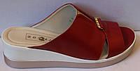 Сабо женские кожаные на танкетке открытые, летняя женская обувь от производителя модель БМ632, фото 1