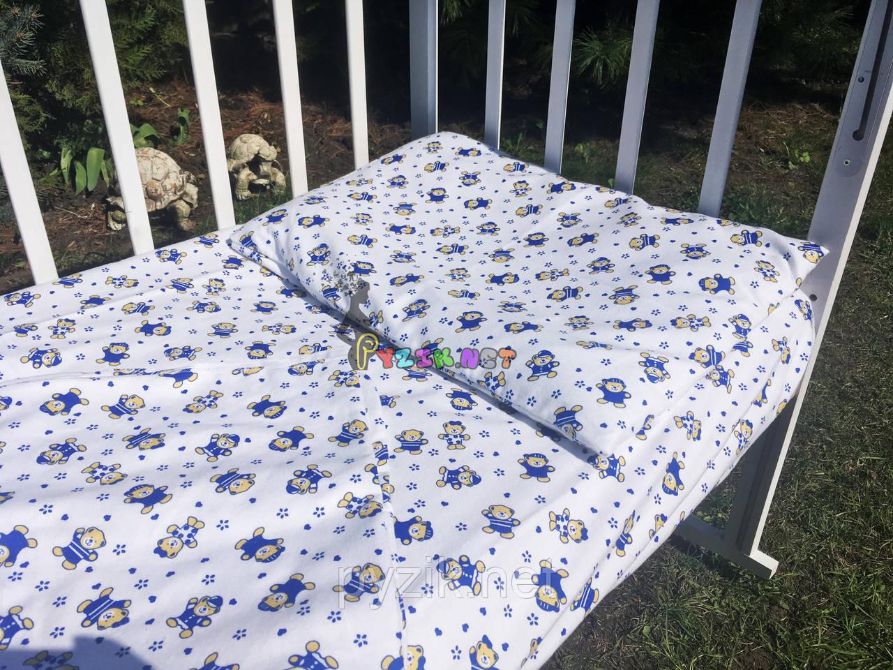 Постельный набор в детскую кроватку Байка (3 предмета) Мишки белый