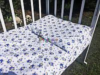 Постельный набор в детскую кроватку Байка (3 предмета) Мишки белый, фото 1