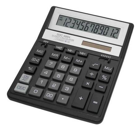 Калькулятор Citizen SDC-888XBK бухгалтерский 12р, фото 2