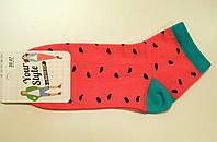 Яркие женские хлопковые носки в арбузы