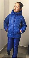 Костюм для девочки зимний курточка и штаны, фото 1