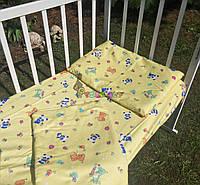 Постельный набор в детскую кроватку Байка (3 предмета) Панды желтое