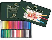 Сухая пастель Faber-Castell POLYCHROMOS 60 цветов  в металлической коробке, 128560