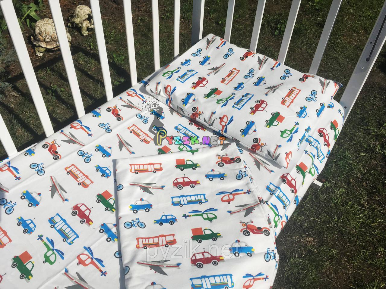 Постельный набор в детскую кроватку Байка (3 предмета) Транспорт