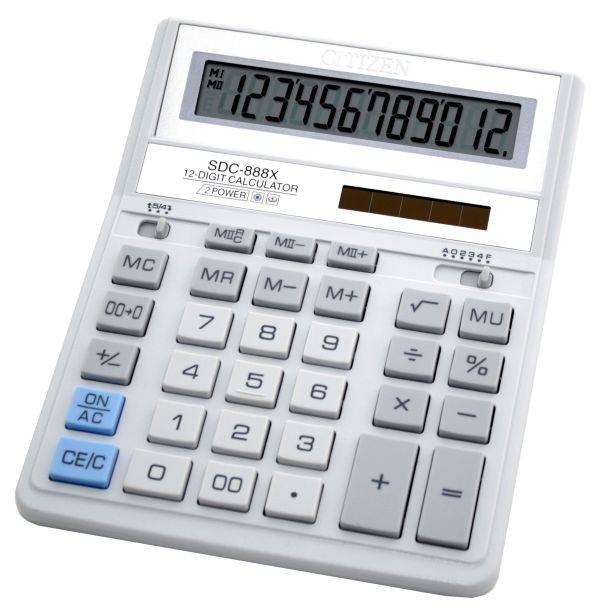 Калькулятор Citizen SDC-888XWH бухгалтерский 12р
