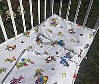 Постельный набор в детскую кроватку Байка (3 предмета) Винни пух, фото 1