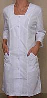 Медицинский халат воротника с квадратной горловиной (25)
