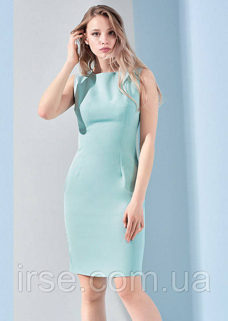 4787a5d6c04 Офисное летнее платье ментолового цвета. Модель 17928. Размеры 42-46