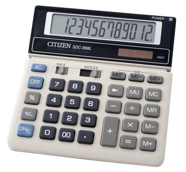 Калькулятор Citizen SDC-868L бухгалтерский 12р