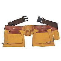 Пояс слесарный кожаный 12 карманов sigma 9450351