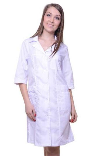 Медицинский халат приталенного силуэта (55)