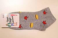 Яркие носки с рисунком фастфуд
