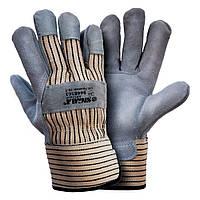 Перчатки комбинированные замшевые р10,5, класс ВС (цельная ладонь) sigma 9448361
