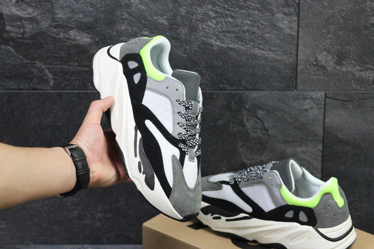 c20831bb77ab Стильные кроссовки Adidas Yeezy Boost 700, серые с черным (Реплика ...