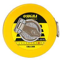 Рулетка измерительная стекловолокно 10м*13мм sigma 3831101