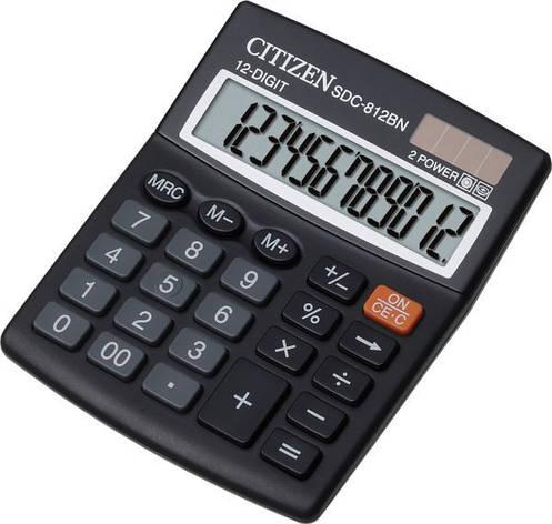 Калькулятор Citizen SDC-812BN бухгалтерский 12р, фото 2