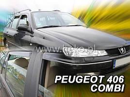 Дефлекторы окон (ветровики)  PEUGEOT 406 4d 1995r →(HEKO)