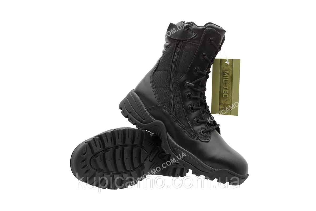 """Берцы трэкинговые  демисезонные  Mil-tec black Tactical Boots """"Two-Zip"""" Германия"""