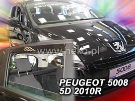 Дефлекторы окон (ветровики)  PEUGEOT 5008  5d 2010-2017r →(HEKO)
