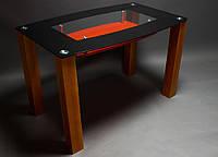 Стеклянный стол для кухни Бочка