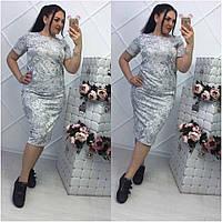 Женское трикотажное платье, в расцветках, р-р 48-50 (МБ-4-0418)