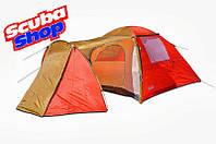 Палатка четырехместная Coleman 1036, двухслойная (размеры 370*240*160 см)