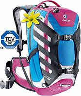 Велосипедный рюкзак 18 л. женский DEUTER ATTACK 18 SL, 32232 3506 синий с розовым