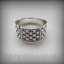1014 Мужское серебряное кольцо Дюк 925 пробы