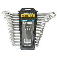 Ключи рожково-накидные 12шт 6-22мм CrV satine sigma 6010121