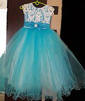 Детское нарядное выпускное бальное платье на 6-7 лет