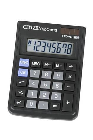 Калькулятор Citizen SDC-011S настольный, фото 2
