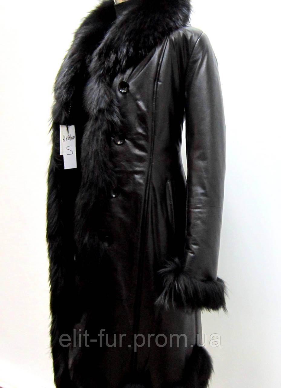 кожаное пальто женское фото