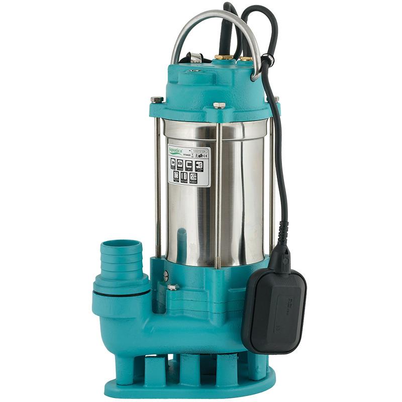 Насос канализационный 1.5кВт Hmax 23м Qmax 375л/мин (нерж) aquatica 773424