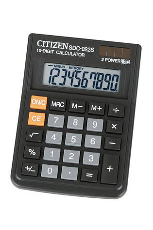 Калькулятор Citizen SDC-022S настольный, фото 2