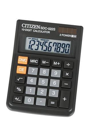 Калькулятор Citizen SDC-022S настольный, фото 2