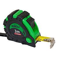 Рулетка магнитная автостоп+тормоз 3м*19мм sigma 3823031