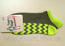Женские низкие носки с цветной резинкой