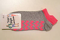 Цветные низкие носки с цветной резинкой