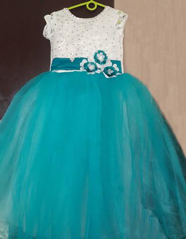 Детское нарядное вечернее платье на праздник на 6-8 лет., фото 2