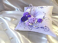 Подушечка для колец фиолетовая