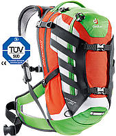 Велосипедный рюкзак 20 л. для езды на байке DEUTER ATTACK 20, 32242 9201 красный с зеленым