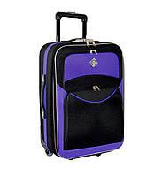 Дорожный чемодан на колесах Bonro Best Черно-фиолетовый Большой