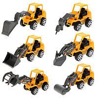 Набор игрушек Дорожная техника детский пластмассовый іграшка дитяча машина детская машинка трактор