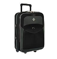Дорожный чемодан на колесах Bonro Best Черно-серый Большой