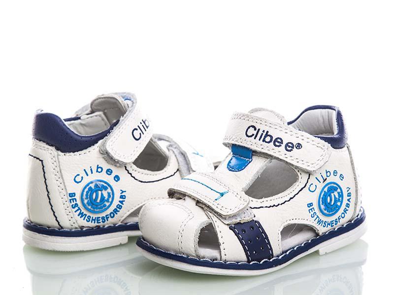 Ортопедические босоножки для мальчиков белые Clibee
