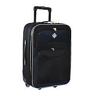 Дорожный чемодан на колесах Bonro Best Черно-темно-синий Большой